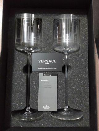 德國 Rosenthal VERSACE凡賽斯水晶杯一對