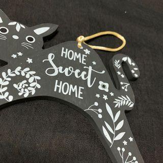 Wall Decor; Cat Sign Home sweet Home