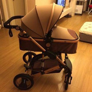 baby stroller basket lying folding light weight two sided child bed two way carrier