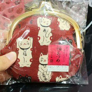 Fortune Cat Hard Coin Pouch