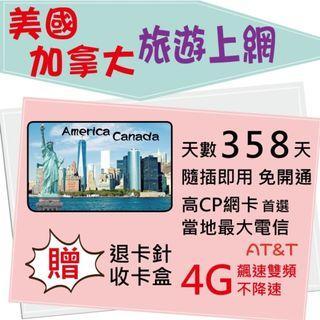 【美加尊爵卡】AT&T 7天 美國上網 加拿大上網 美國網卡 加拿大網卡 美國上網卡 加拿大上網卡 旅遊卡