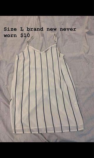 White stripy dress