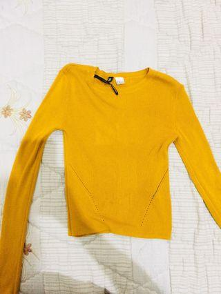 H&m mustard crop sweater