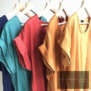 Drop shoulder boxy blouse