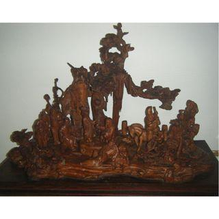 Eight Fairies wooden sculpture