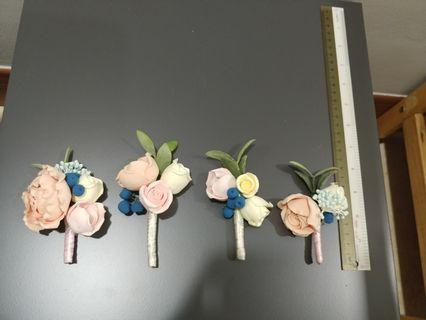 Handmade Soft Clay Flower Cosarges for Wedding (from ETSY!)