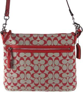 🚚 Coach Signature Poppy Peri Crossbody Shoulder Bag
