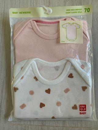 Brand new(original seal) Uniqlo baby crew neck bodysuit size 70