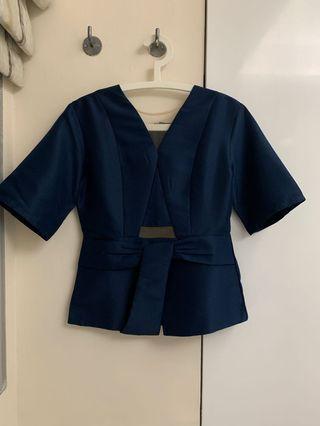 Kimono Navy Top