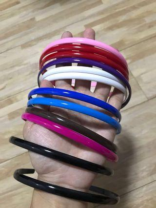 Brand new plastic hair bands