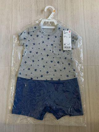 Brand NEW(in original seal) Uniqlo baby dress size 70