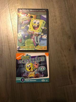 Pre- loved VCD and DVD spongebob