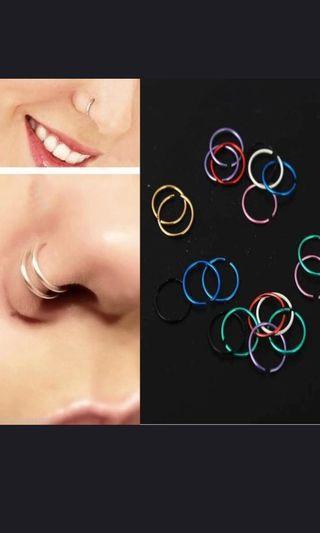 nose ring hoop earrings