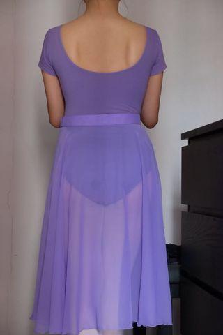 Ballet Long Chiffon Skirt (Lilac) Women Size S / M