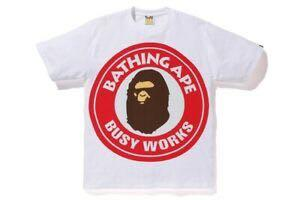 WTS : bape pigment White/red