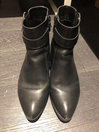 Women's leather boots, EU 38.5; UK 5.5