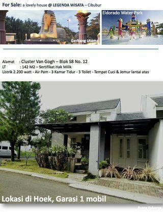 Dijual rumah di hook Legenda Wisata cibubur cluster Van Gogh