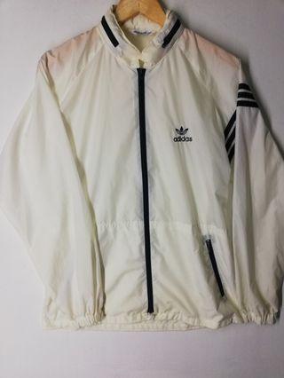 White Adidas Descente Windbreaker Vintage