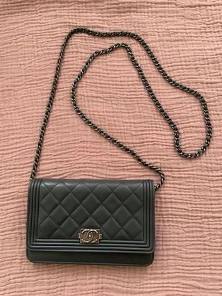 Authentic Chanel Boy WOC wallet on chain
