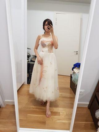 (Sale 4 for rm260) champagne midi dress