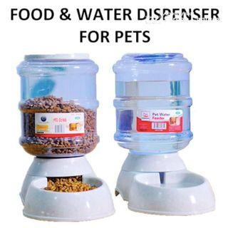 Food dispenser Water dispenser automatic Pets 3.75L Food Feeder Water Feeder Dog Cat