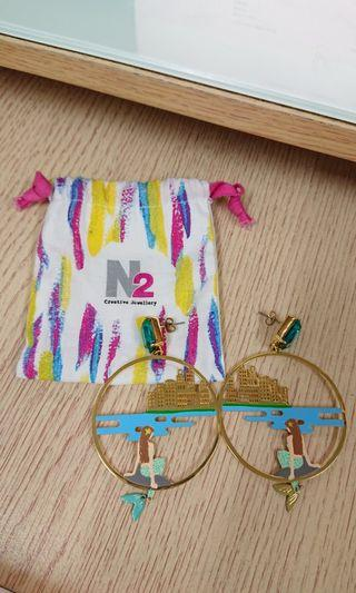 N2 美人魚耳環 earrings