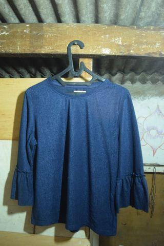 #ramadansale blouse biru terompet