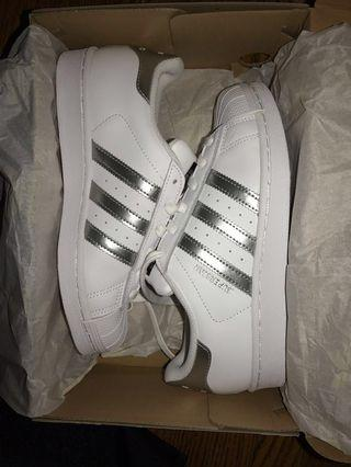 Brand new silver and white superstar