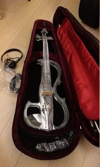 四分四全新水晶電子小提琴