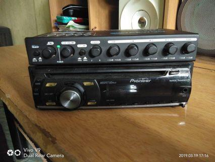 Pioneer DEH-1050E sekali pre amp DAEWOO SQ5
