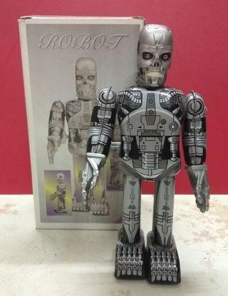 懷舊玩具收藏 90年代 the Terminator 鐵皮機械人