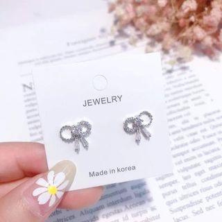Korean Trending Earring - Silver Ribbon