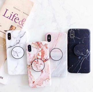 全新轉賣 白大理石紋手機殼附氣墊架 iPhone 7、iPhone 8 i7 i8附氣墊架 手機殼 手機套