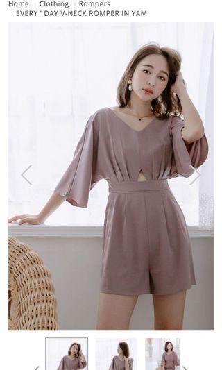 Arimee Korean Romper in Yam