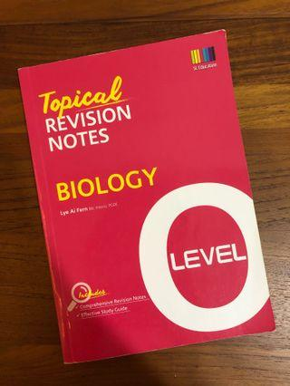 🚚 Shinglee Biology topical revision notes for O levels