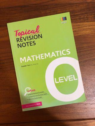 🚚 shinglee topical revision notes for mathematics o levels