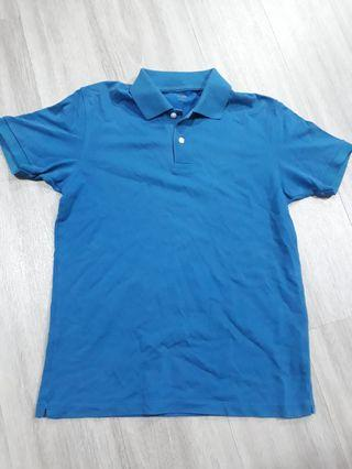 Preloved Uniqlo mens Size M Blue Teal polo shirt