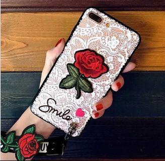 全新轉賣 白蕾絲附長短帶手機殼 iphone7、iPhone 8 i7i8手機殼 手機套