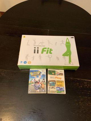 🚚 Wii fit board with 2 games,WU fit board