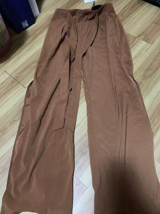 Avaline Tye Brown Culottes