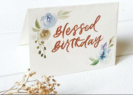 Custom Watercolor Handpainted Greeting Card