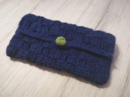 Crochet wallet passport sleeve