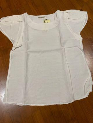 White cotton linen top