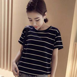 H&M striped ulzzang top / tee