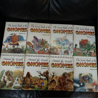 Pre-Loved Children Books - The Secret Book of the Gnomes (5 Volumes) & Around the World with the Gnomes (3 Volumes)(Hardcover)