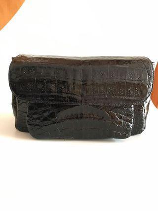 歐洲名牌鱷魚真皮兩用手袋
