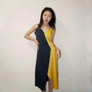 Chiffon Colour Block Dress
