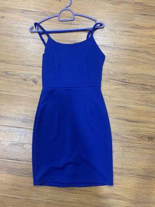 Elastic Dress in Electric Blue