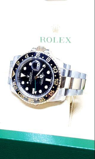 Rolex Black Half Gold GMT Master 2 REF: 116713LN (Discontinued)