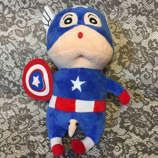 Capitan America 美國隊長造型蠟筆小新公仔